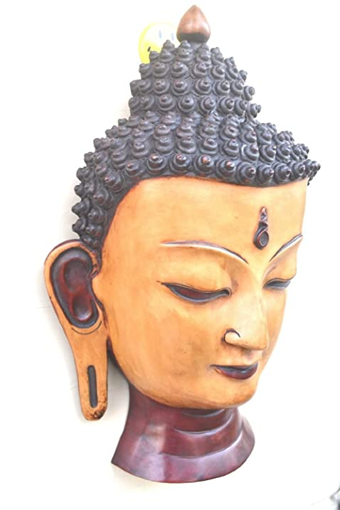 Amazon.com: AapnoCraft Tibetan Buddha Wall Mask Long Ear Buddha WAll ...