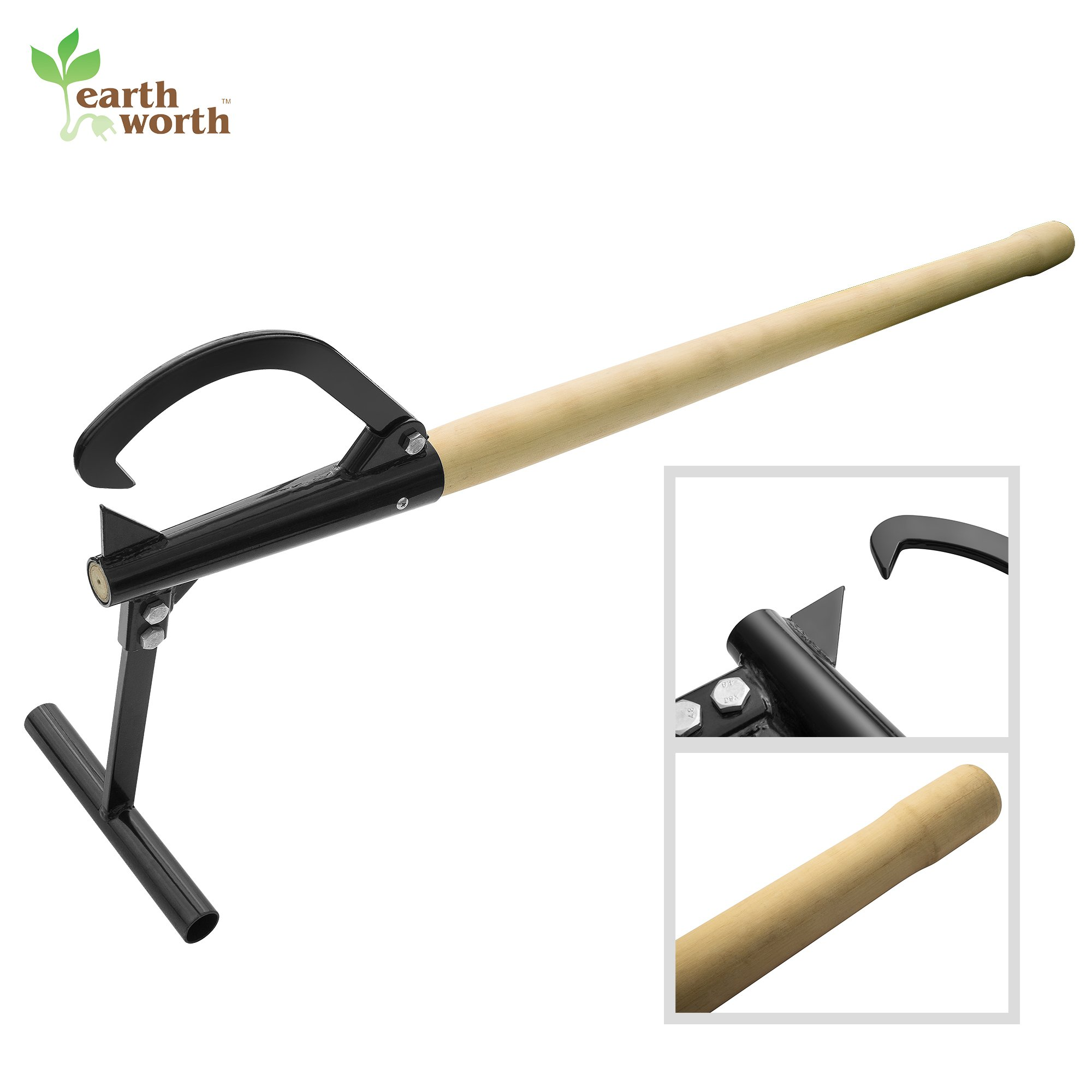 Earth Worth 83-DT5219 Timberjack | Log Lifter | Wood Handle | 48 Inches