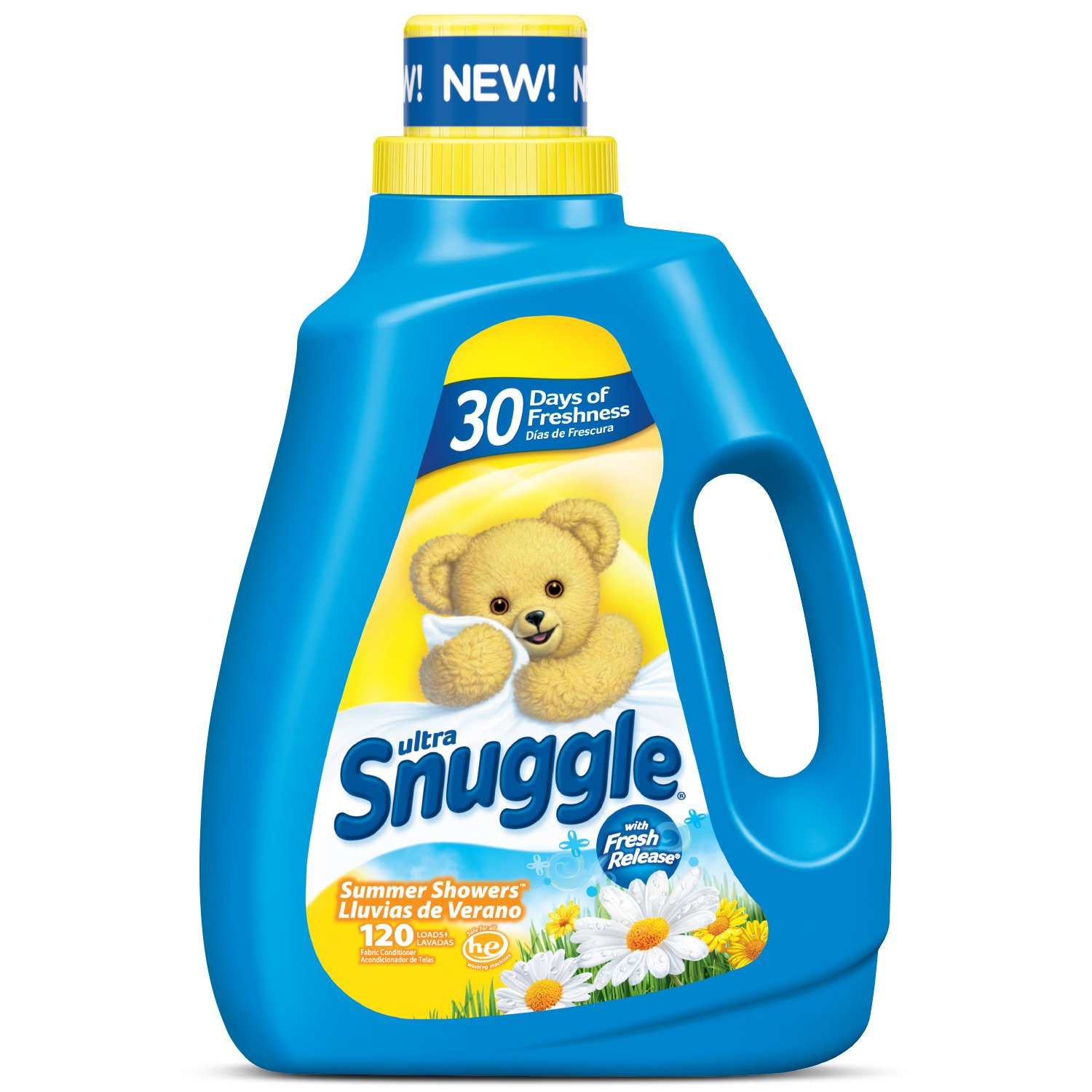 Amazon.com: Snuggle Liquid Fabric Softener with Fresh Release, Summer Showers, 96 Fluid Ounces (Pack of 4): Health & Personal Care