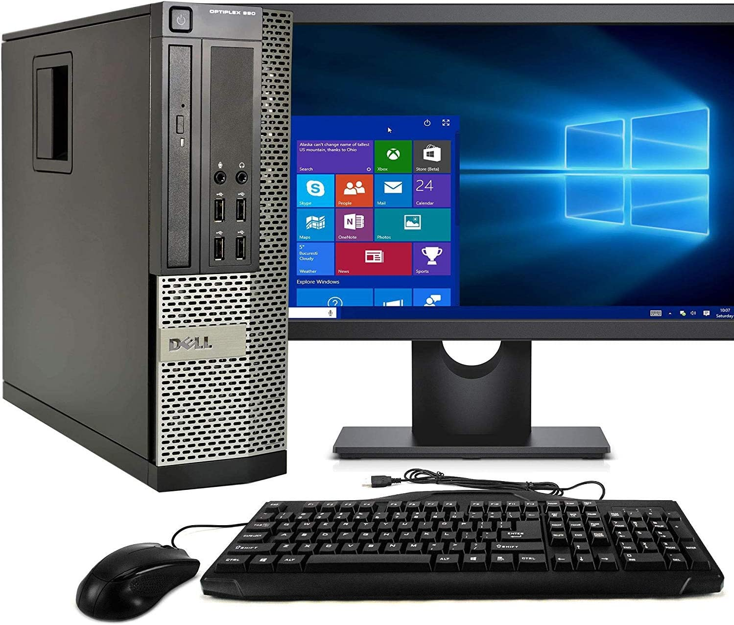 Dell Optiplex 990 SFF PC, Intel Core i5 Processor, 16GB RAM, 2TB HDD, DVDRW, Keyboard & Mouse, WiFi, Bluetooth 4.0, Windows 10 Pro, 20in LCD Monitor (Renewed)
