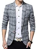 Men's Casual One Button Slim Fit Blazer Suit Jacket