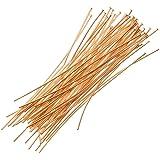 Beadaholique 50-Piece Head Pins, 24-Gauge, 2-Inch, 22K Gold