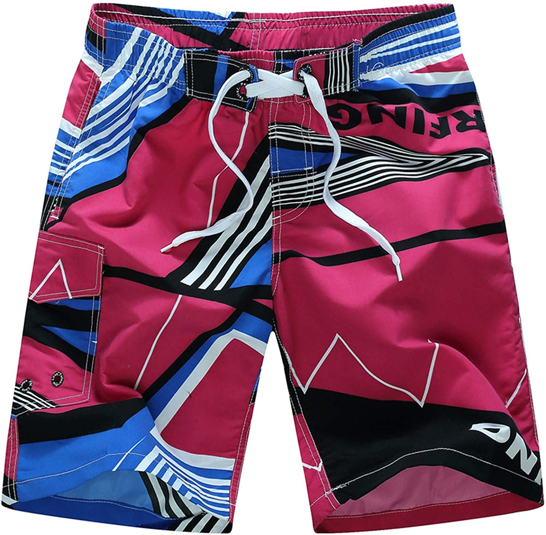 Circle-k-red-Logo Mens Swim Adjustable Quick Dry Beach Shorts DrawstringRunning Shorts Mesh Lining
