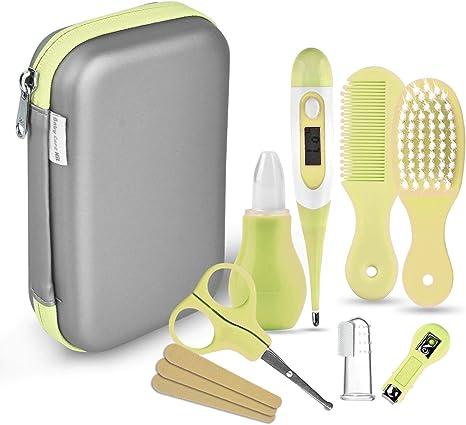 Set para el cuidado del bebé - 8 piezas/juego de recién nacido bebé niños Cuidado Set, uñas pelo salud Cuidado Termómetro Pincel Kit (amarillo): Amazon.es: Bebé