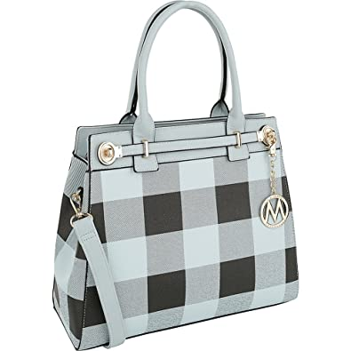 ef260fc3c7bf MKF Collection Kimmy Plaid Satchel/Shoulder Bag by Mia K Farrow Blue ...