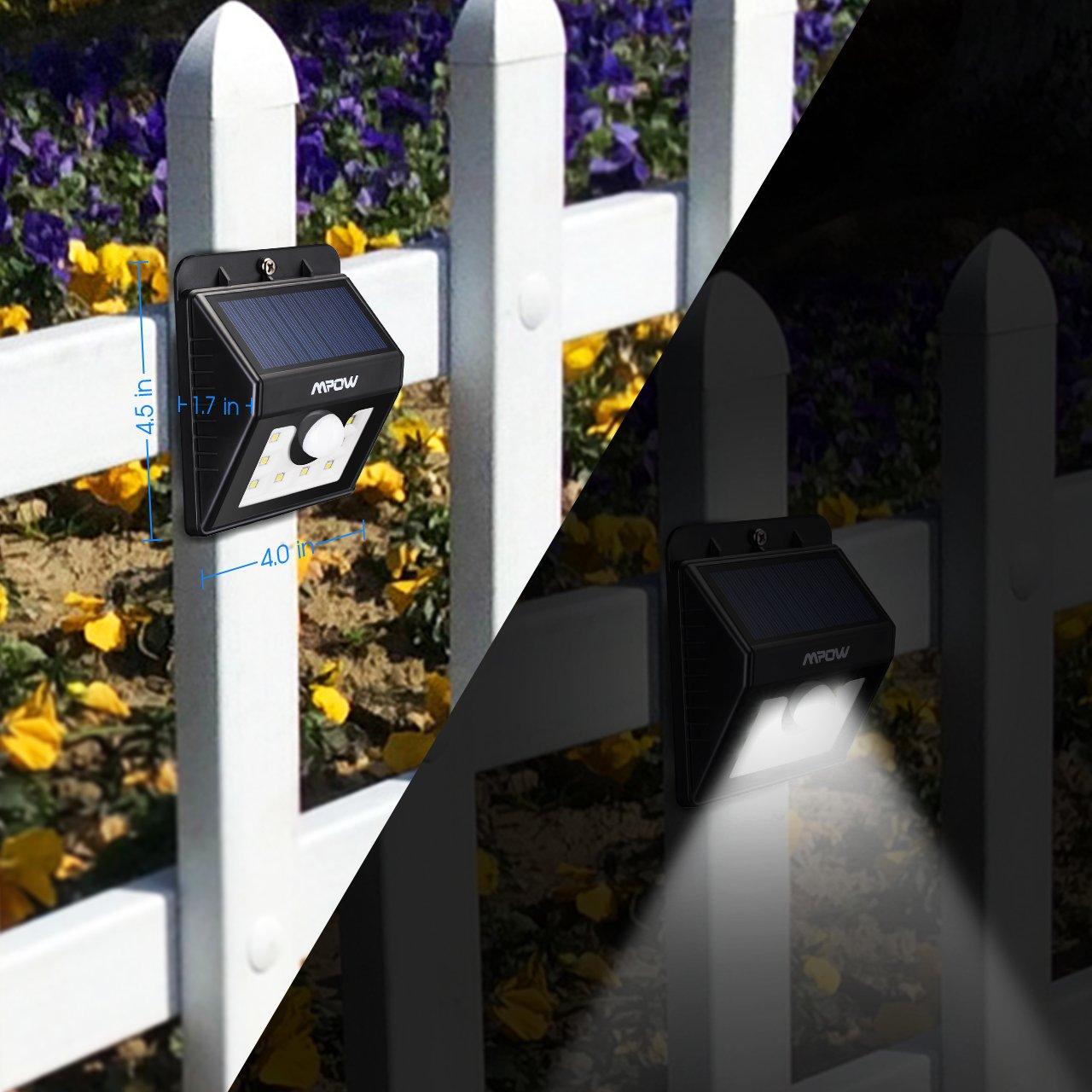 mpow solar lights motion sensor security lights 3in1 waterproof solar powered lights outdoor lights for garden fence patio yard walkway driveway