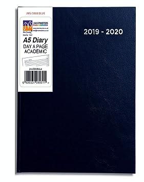 Blue Color JMS® 2019-2020 - Agenda escolar (tamaño A5, año ...