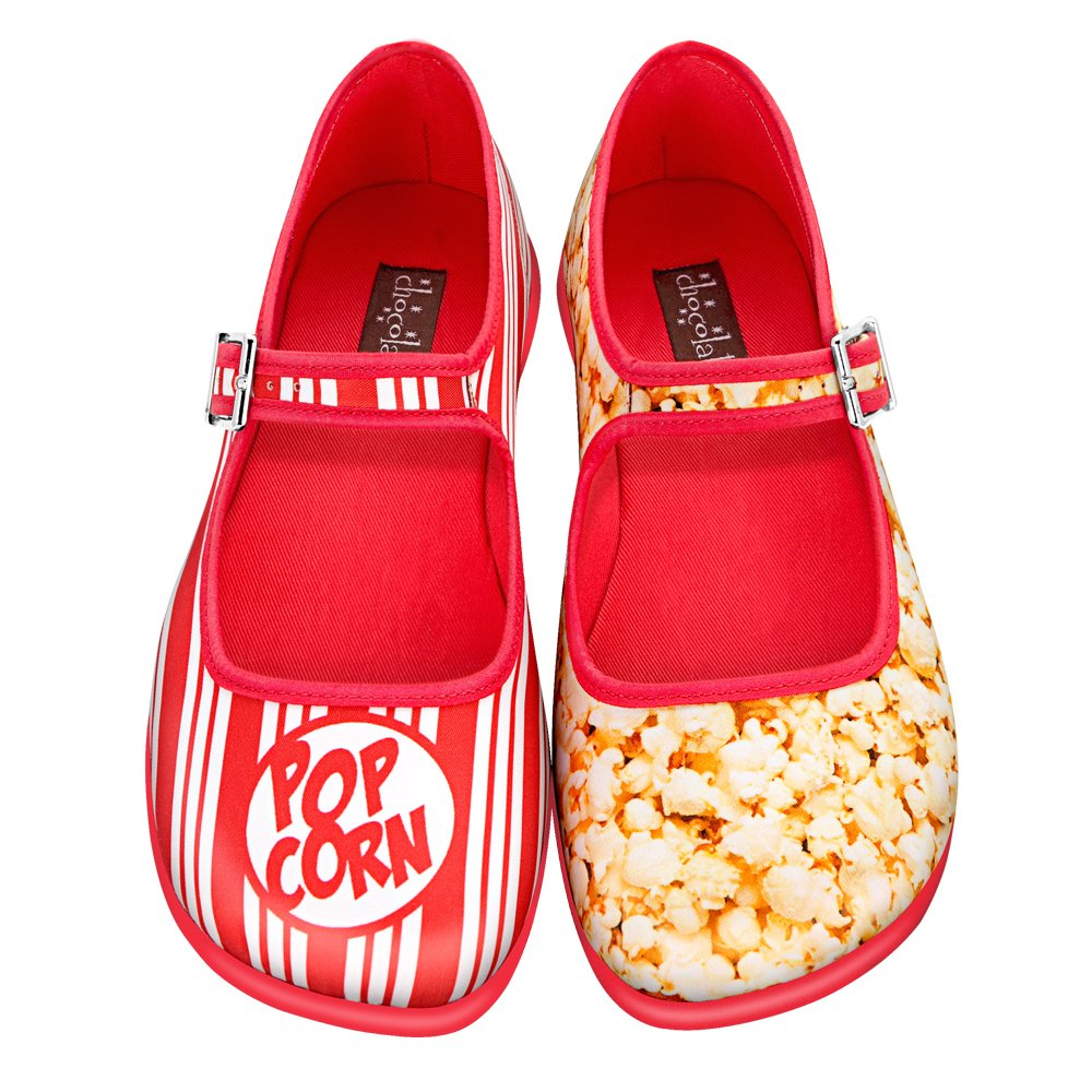 Hot Chocolate Mary Design Chocolaticas Popcorn Damen Mary Chocolate Jane Halbschuhe 792ff3