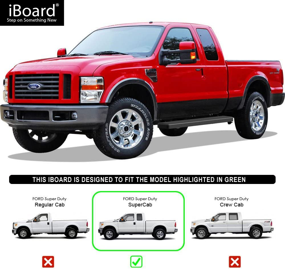 iBoard Third Generation, for Selected Ford F-150 SuperCrew Cab, Aluminum APS IBFZ4955 Black 5 Running Board Side Step