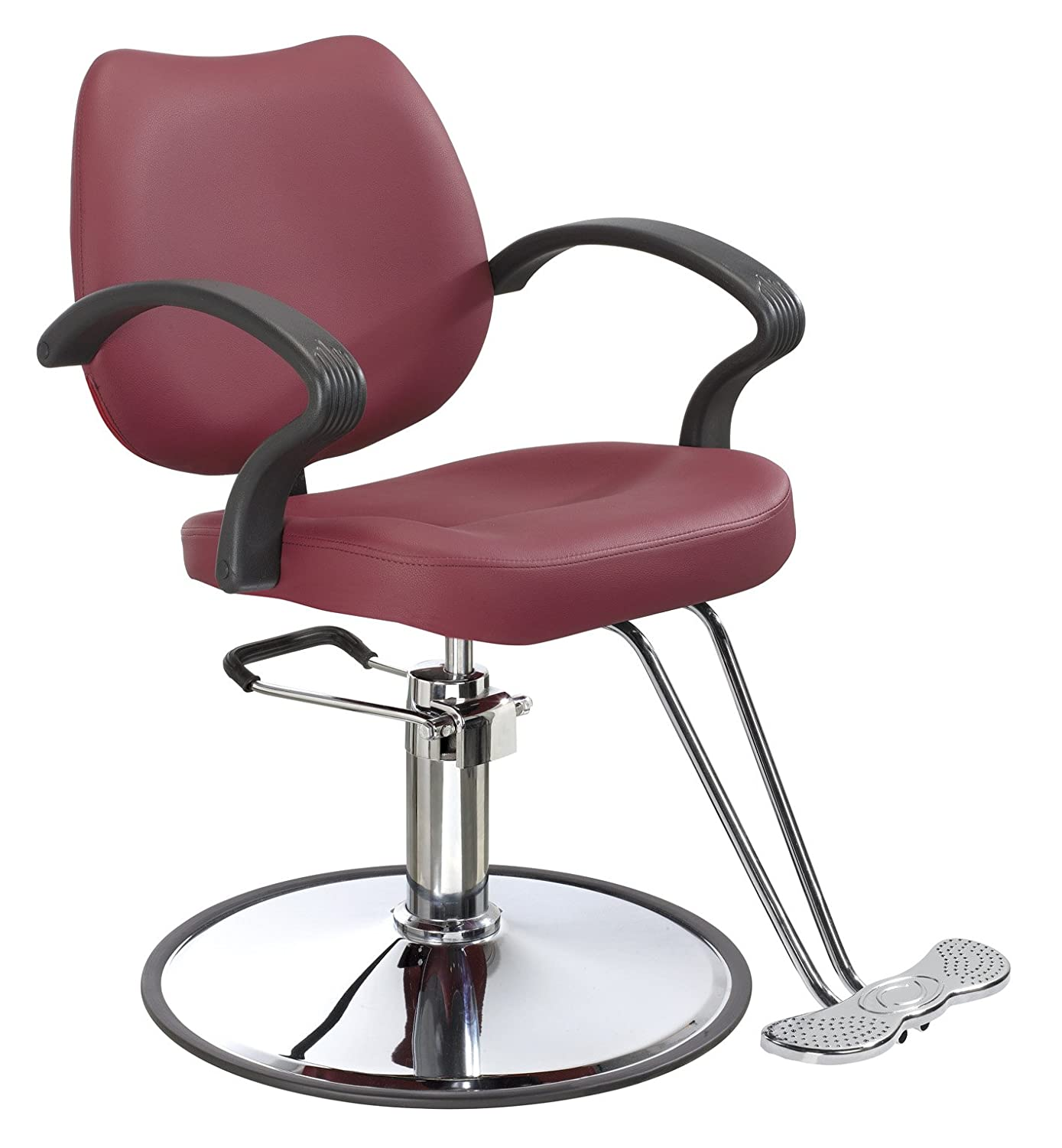 Amazon Burgundy Classic Hydraulic Barber Chair Styling Salon