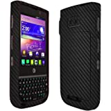 Skinomi Black Carbon Fiber Full Body Skin Compatible with NEC Terrain (AT&T)(Full Coverage) TechSkin with Anti-Bubble…