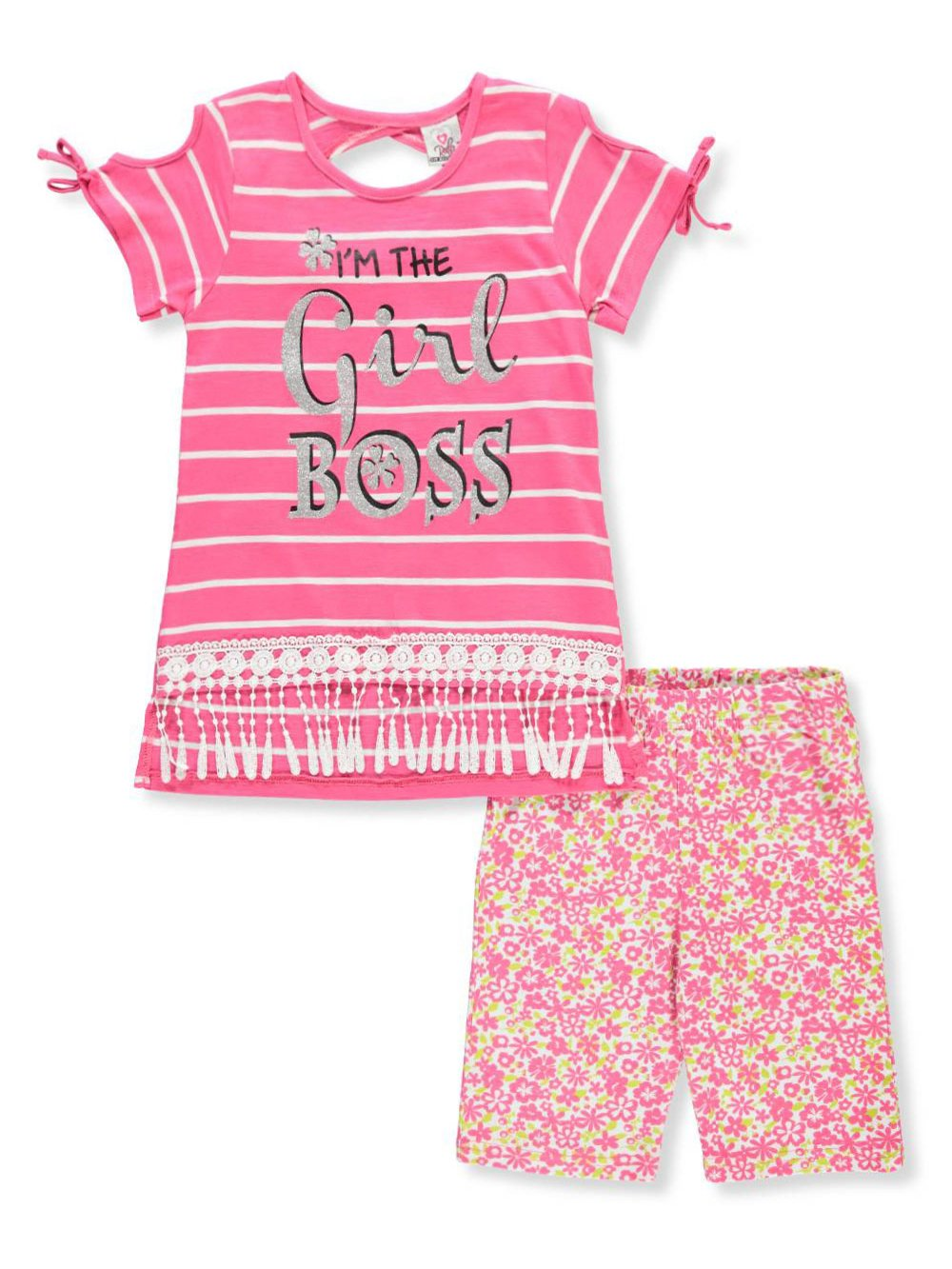 Real Love Girls' 2-Piece Short Set Outfit 2t
