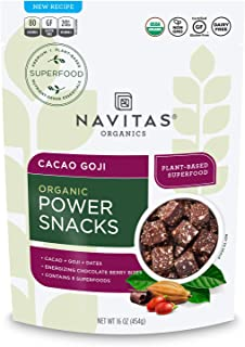 product image for Navitas Organics Superfood Power Snacks, 23 Servings Organic, Cacao Goji, 16 Ounce