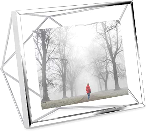 Amazon Com Umbra Prisma Picture Frame 4x6 Photo Display For Desk Or Wall Chrome