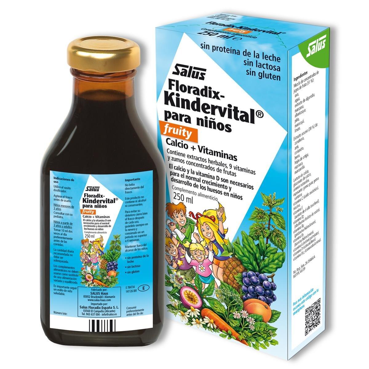 Floradix Kindervital para niños Salus, 250 ml: Amazon.es: Belleza