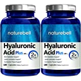 NatureBell Hyaluronic Acid Plus, 100mg, 180 Capsules, Made in USA, Support Skin Hydration & Joints Lubrication. 2 Pack
