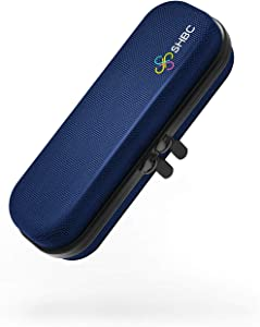 SHBC Compact Insulin Cooler Travel case for Diabetics Carrying On, Working, Office, etc. Well-Organized Small Bag for Medication Cooling Insulation Epi Pen Carrying Case with One Ice Pack Blue