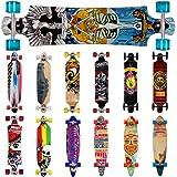 Longboard Skateboard Komplettboard Stunt Cruiser Offroad ✔ ABEC 7 & 9 Kugellager ✔ 9-lagiges Ahornholz -【 Modell- & Motivauswahl】