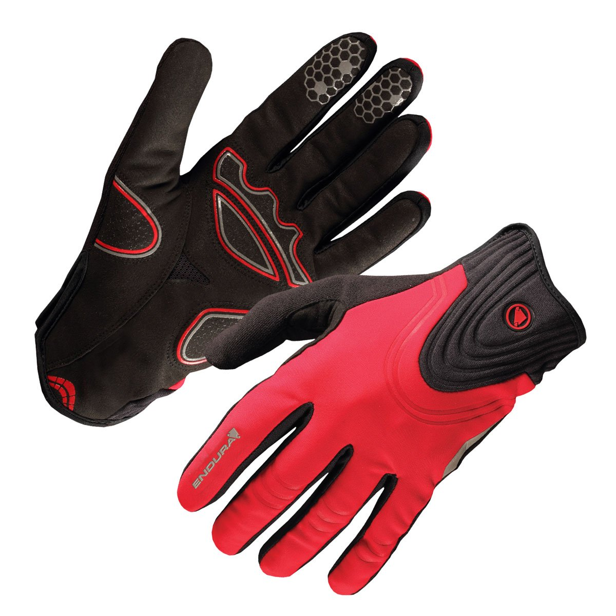 Endura 2015 Windchill Full Finger Cycling Glove - E0075 (Red - S)