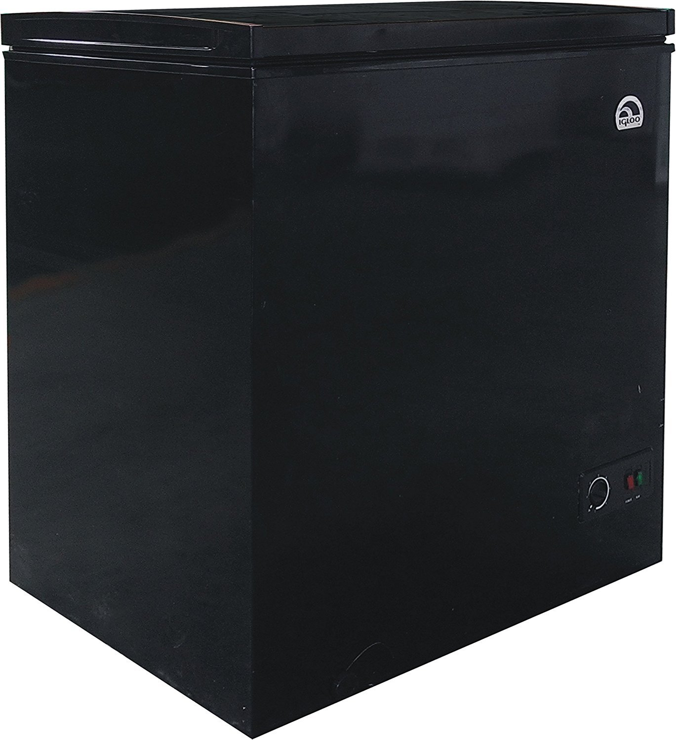Igloo 5.1 Cubic Foot Chest Freezer with Dry Erase Board Top, Black