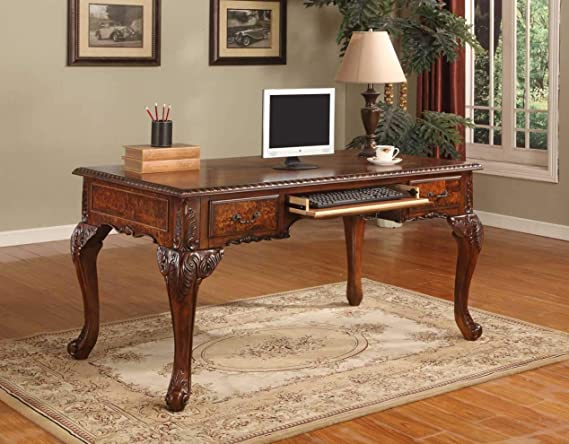 Best Master Furniture Chester Executive Traditional Office Desk