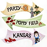 Wizard of Oz Party Arrow Sign Decorations Pack of 6 Signs