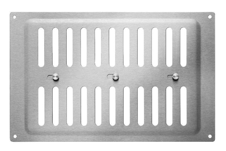 Schiebegitter Brushed Stainless Steel, 260 x 165 MM Trobak