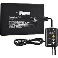 """iPower - Juego de termostato Digital y Almohadilla de Calor para Debajo del Tanque de 15,2 x 20,3 cm, 6"""" x 8"""" & Control"""