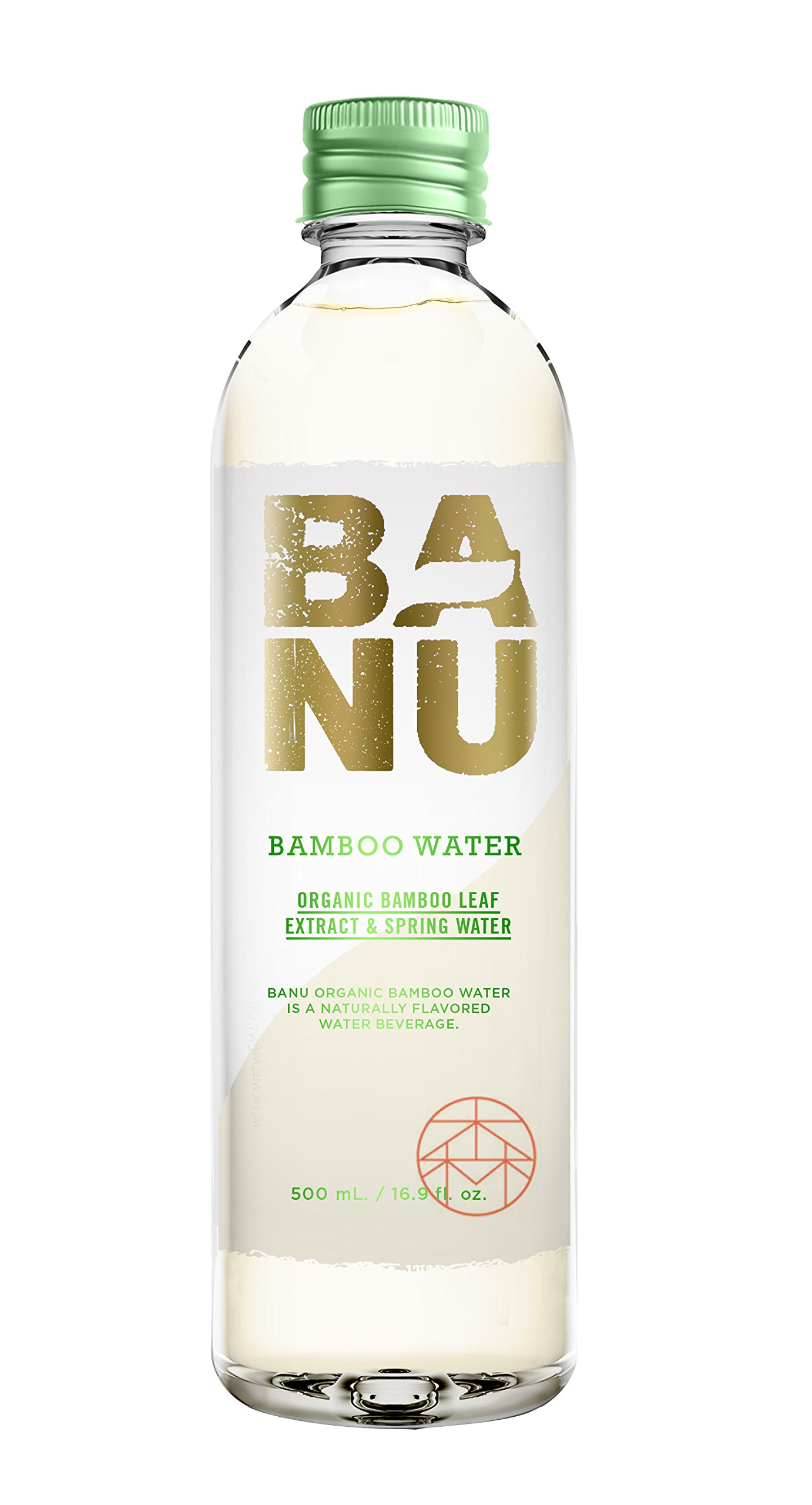 BANU Organic Bamboo Water 16.9 oz (Pack of 12)