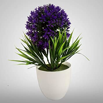Buy Emndr Artificial Flower With Realistic Green Leaf Pot Tree And Real Feeling Romantic Flower For Home Decoration Flower With Vase Pot Bonsai Plant Flower Pot 41 Online At Low Prices In India