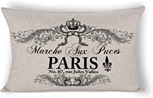 French Bunny Kaninchen Cushion Covers,Home Decor for Sofa Couch Lumbar Pillowcase 12×20 inch
