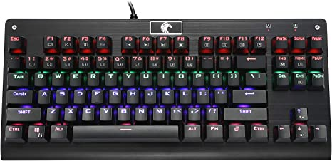 Amazon.com: HUO JI Z-77 Mechanical Gaming Keyboard, Multicolor LED ...