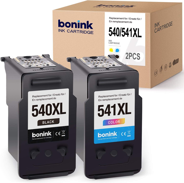 BONINK 2 Compatibles PG-540XL CL-541XL Cartuchos de Tinta para ...