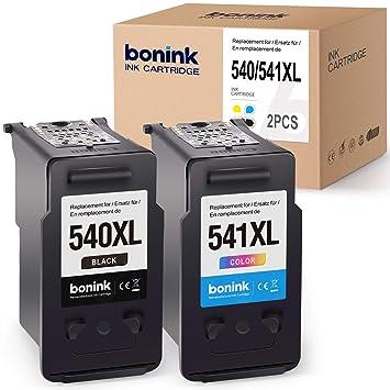 BONINK 2 Compatibles PG-540XL CL-541XL Cartuchos de Tinta ...