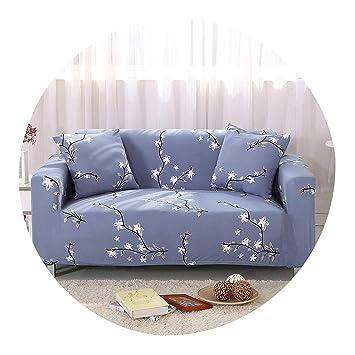 Amazon Com Gray Striped Plaid Elastic Sofa Protector Cover