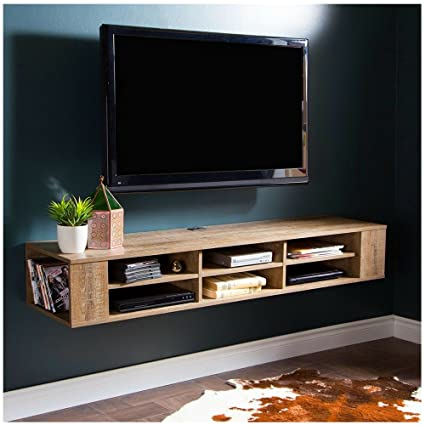 Amazoncom Bs Floating Wall Mount Tv Stand Console With Open Shelfs