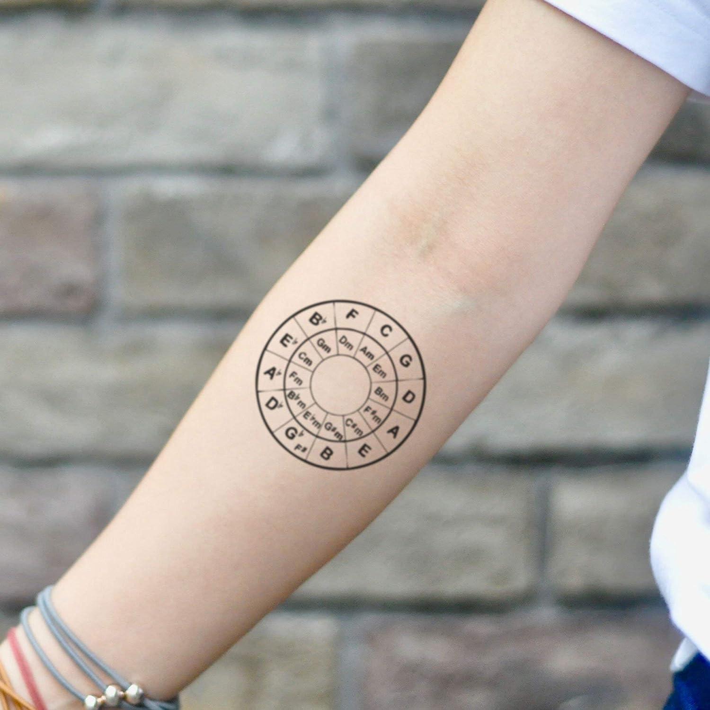 Tatuaje Temporal de Círculo de quintas (2 Piezas) - www.ohmytat ...