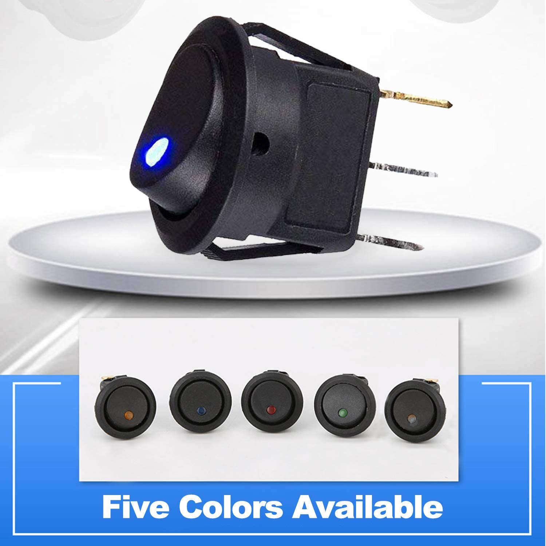 10pcs 12V 20A Car Auto Switch On//off SPST Toggle Switch LED Illuminated