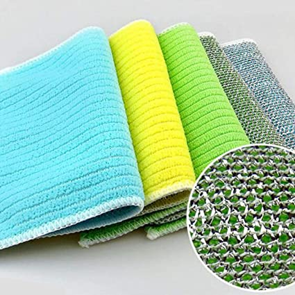 Kitchen Dish Cloth Plates Cleaning Towel Absorbent Washing Rag Microfiber 1PC