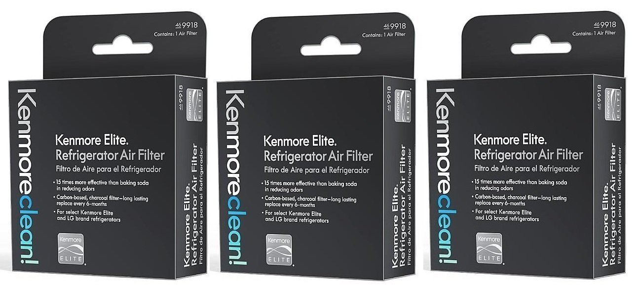 Refrigerator Air Filter 3 Pack - Kenmore Elite 469918