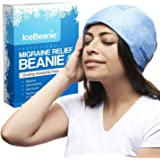 Ice Beanie Natural Migraine Relief - Eliminate Tension Headaches with This Acupressure Designed Cold Pack Hat - Enjoy Soothing Compression to Relieve Pain Associated with Overexertion, Aches & Fever