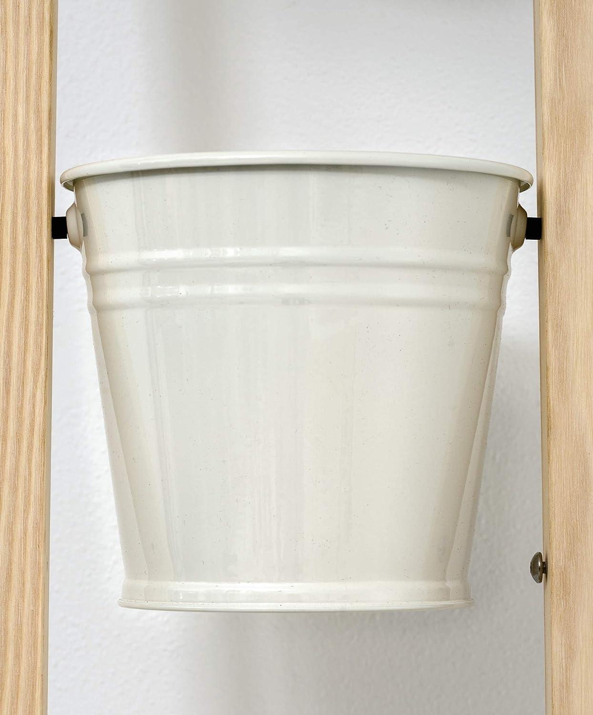 Pflanzleiter Blumenleiter Blumenregal kann frei Stehen oder hochgestellt an Einer Wand lehnen Wei/ß Kr/äutert/öpfe 2 in 1