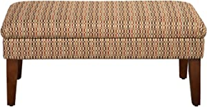 HomePop Modern Storage Bench with Hinged Lid, Multi-color