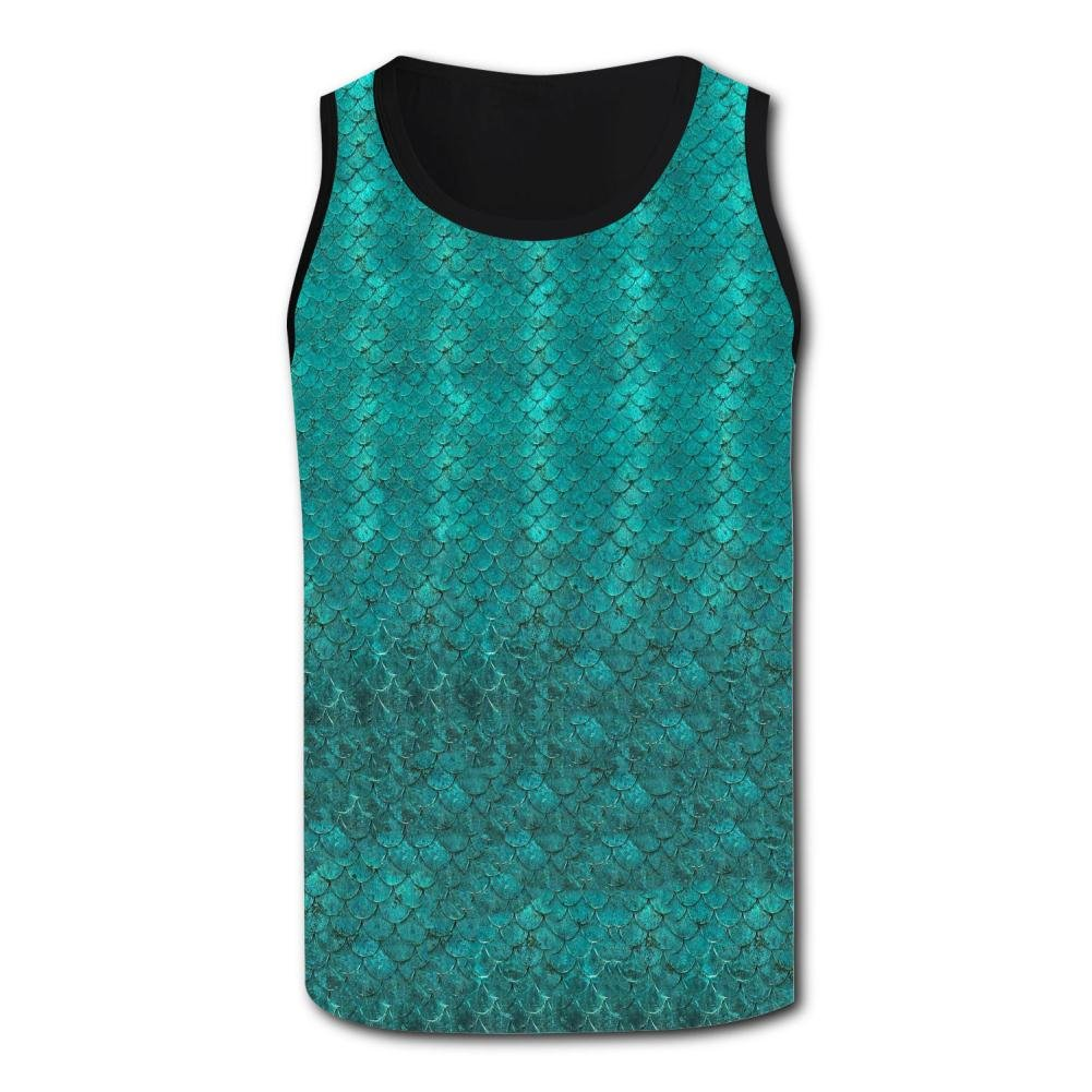 0d13209dd271d Green mermaid scales tank top men singlet plus zise tops fitness vest  clothing jpg 1001x1001 Tops
