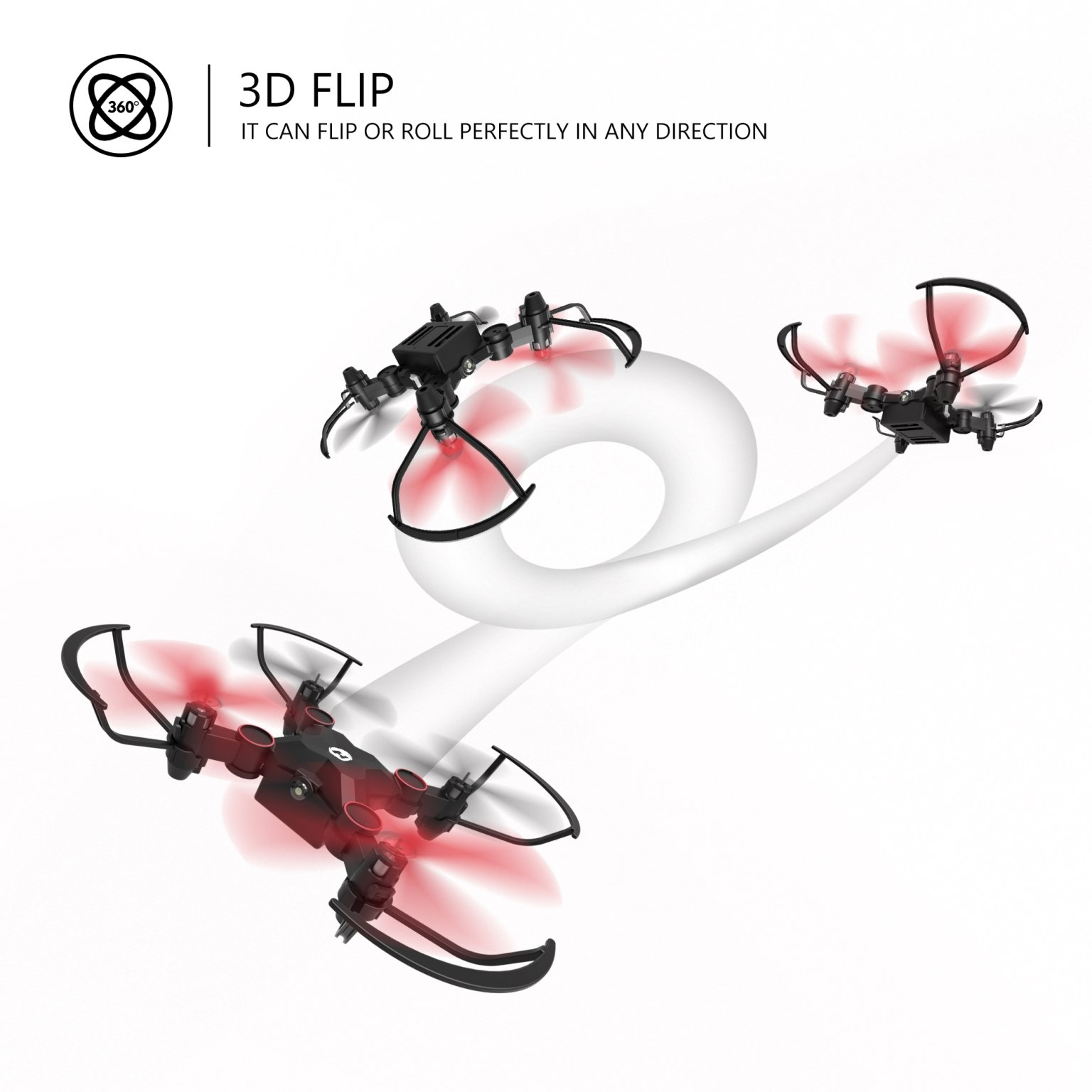 Holy Stone HS190 Foldable Mini Nano RC Drone for Kids Gift Portable Pocket Quadcopter with Altitude Hold 3D Flips and Headless Mode Easy to Fly for Beginners by Holy Stone (Image #7)