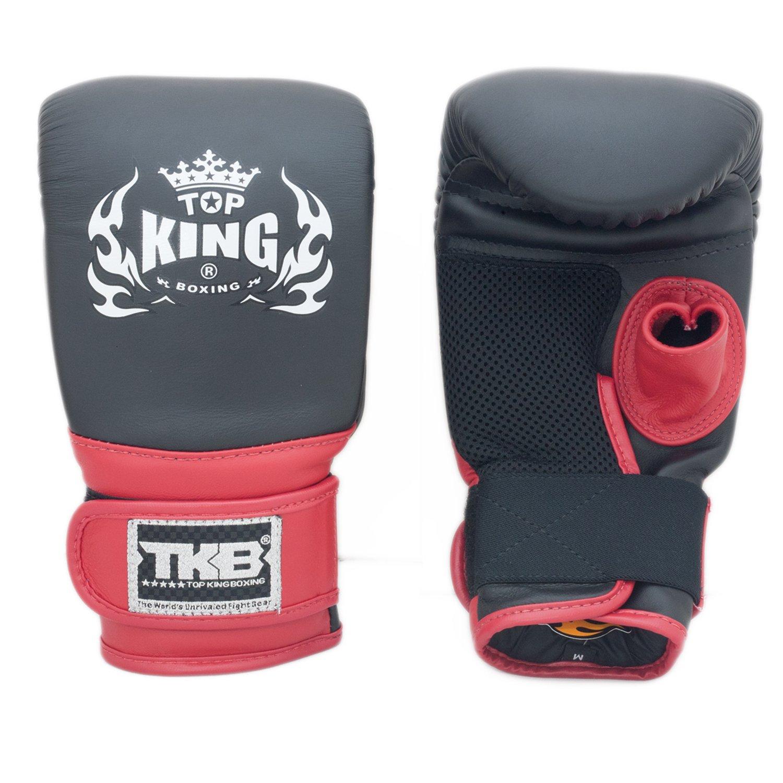 Top KingバッグMitts Air Open親指手袋tkbma1-ot B01EUV8F2E ブラック/ブラック/レッド Large