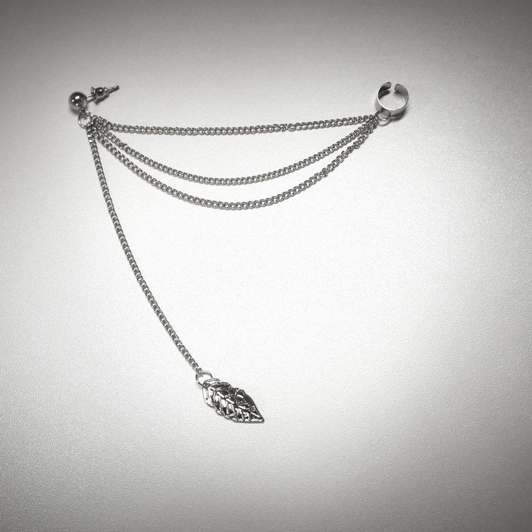 Yean Ohrringe f/ür Frauen und M/ädchen Paar f/ür M/ädchen Silber Farbe