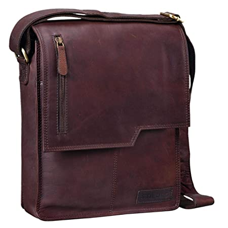 b0ec72da3085 STILORD 'Mario' Leather Mens Shoulder Bag Cross Body Messenger Bag ...