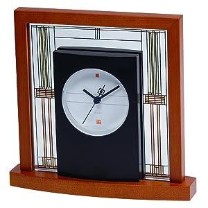 Bulova B7756 Willits Frank Lloyd Wright Table Clock, Light Cherry Finish