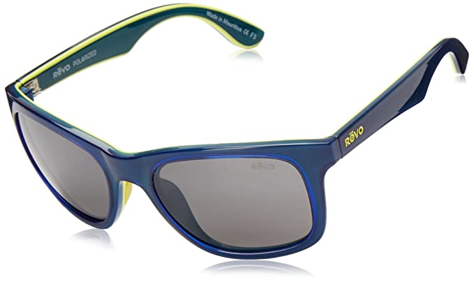 13bf7b1b66 Revo Gafas de sol cuadradas polarizadas Huddie, grafito azul marino/amarillo  / verde azulado